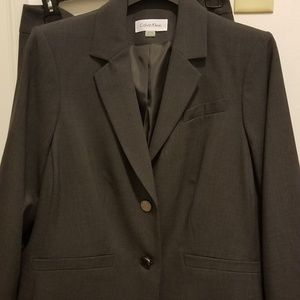 16w Calvin Klein skirt Suit in Charcoal gray.